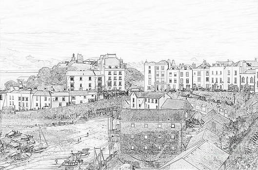 Steve Purnell - Tenby Harbour Pencil Sketch 5