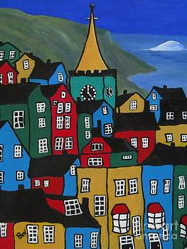 Tenby-Wales- Krooked Village by Beverly Livingstone