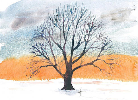 Tender Devotion Winter Tree by Christine Camp
