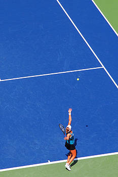 Tennis Serve Abstract Color by Mason Resnick
