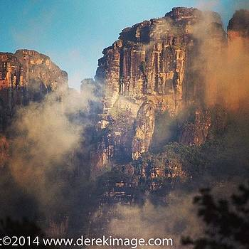 Tepuys In Canaima Park On The Guarao by Derek Kouyoumjian