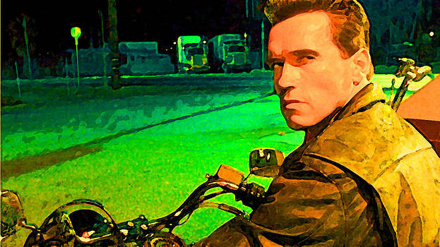 Terminator Arnold Painting by Parvez Sayed