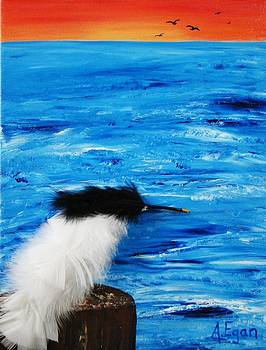 Tern on the Water by Annette Egan