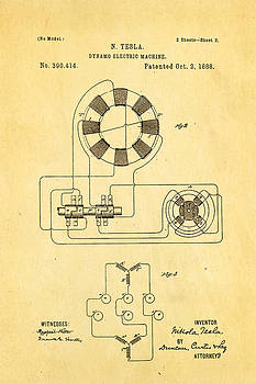 Ian Monk - Tesla Electric Dynamo Patent Art 2 1888