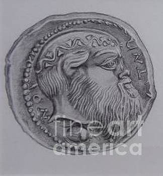 Tetradrachm from the ancient city of Aitna  by Gina Pardo