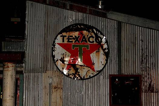 Texaco Star Signage by Suzanne  McClain