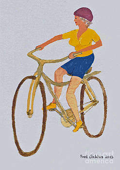 Texas Bicycler by Fred Jinkins