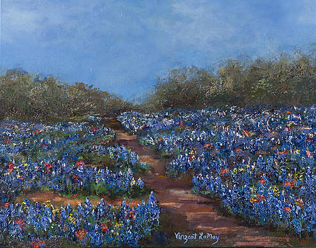 Texas Blue Bonnets Hill Country Trail by Nancy LaMay
