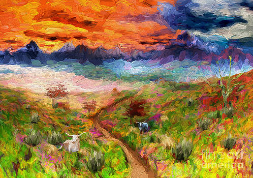 Texas High Country Mixed Media Painting 01  by Heinz G Mielke