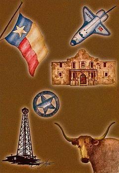 Frank SantAgata - Texas Icons Poster by Sant