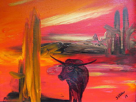 Texas Longhorn by Susan Voidets