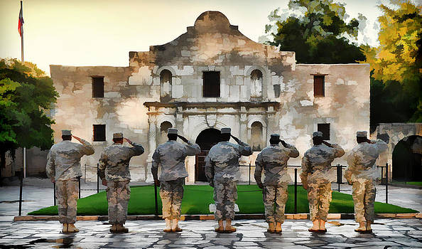 Texas Salute by Jeff R Clow