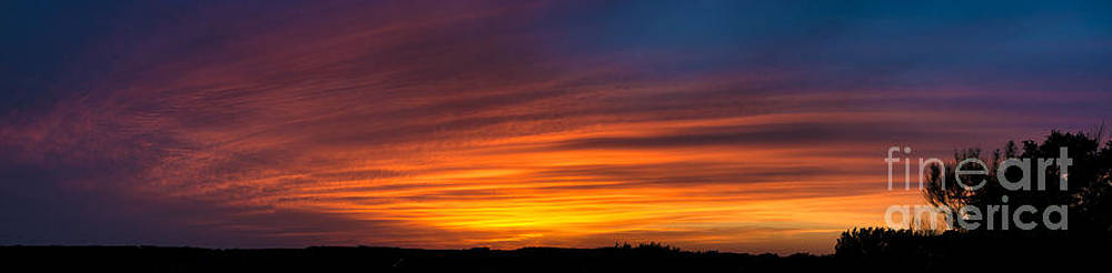 Texas Sunset Panorama by Richard Mason