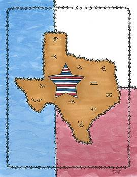 Texas Tried and True Red White and Blue Star by Susie Weber