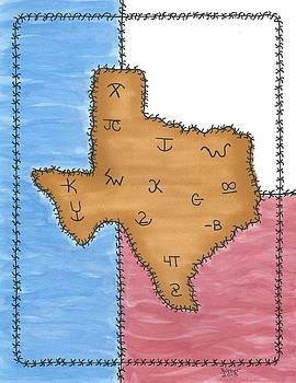Texas Tried and True Red White and Blue by Susie WEBER