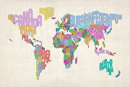 Michael tompsett artwork for sale orihuela costa spain page text map of the world map by michael tompsett gumiabroncs Image collections