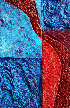 Texture and Color Bas-Relief Sculpture #4 by Karen Cade