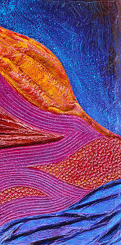 Texture and Color Bas-Relief Sculpture #6 by Karen Cade