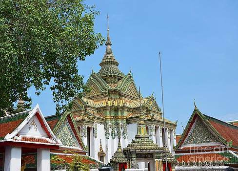 Thai Buddhist temple 01  by Bobby Mandal