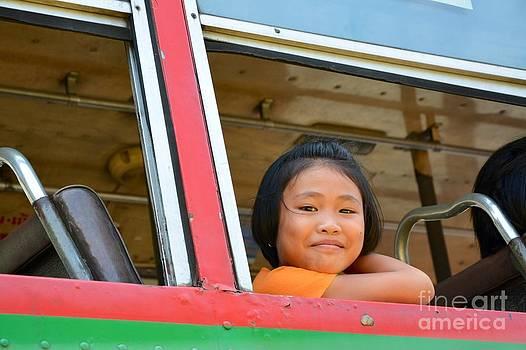 Thai girl in bus  by Bobby Mandal