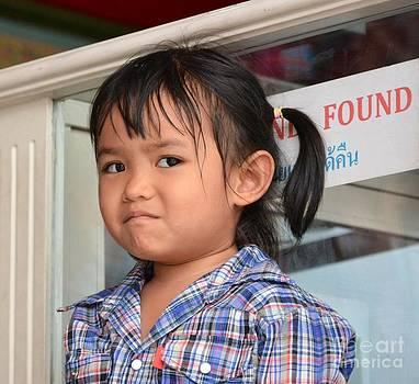 Thai kids face  by Bobby Mandal