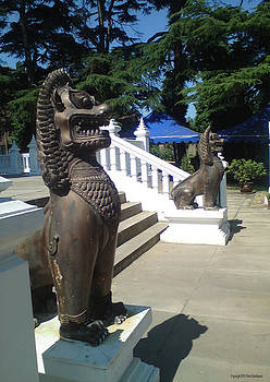 Thai Temple Steps by Peter Hutchinson