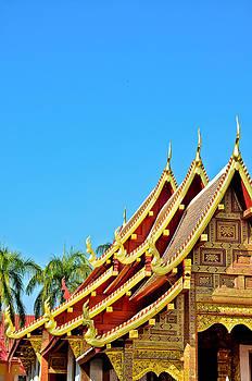 THAILAND temple roof by Keerati Preechanugoon
