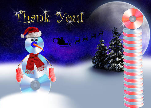 Jeanette K - Thank You CD Snowman