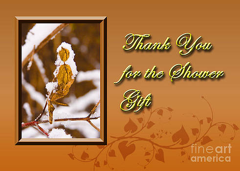 Jeanette K - Thank You for the Shower Gift Leaf