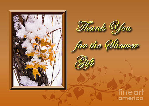 Jeanette K - Thank You for the Shower Gift Leaves