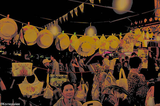That eyes in the night market by Kornrawiee Miu Miu