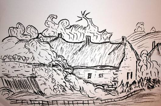 Thatched Cottage by Paul Morgan