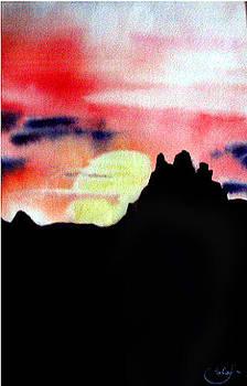 Thatcher Arizona sunset by Nila Jane Autry