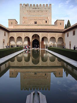 The Alhambra Palace Reflecting pool by David  Ortiz