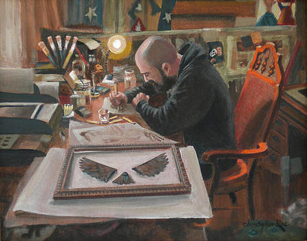 The Artist in his Studio by Christopher Roe