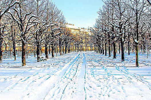 The Augarten in the Snow by Menega Sabidussi