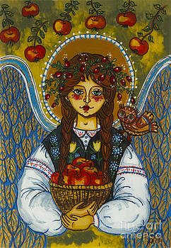 The autumn angel with the owl by Iwona Fafara-Pilch
