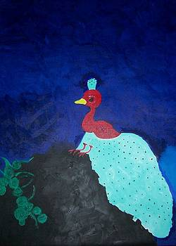 The baby Peacock by Leena Samat Kuchadiya