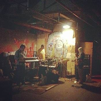 The Band Set Up Over At by Matthew Martnick