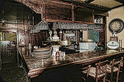 The Bar In The Black Forest Harrison Hot Springs Bc by Lawrence Christopher
