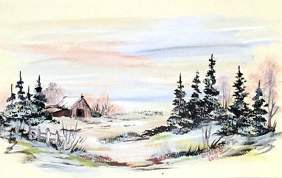 The Barn on a Beautiful Winter Day by Dorothy Maier