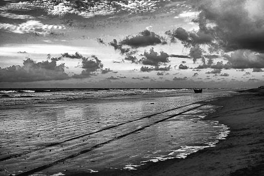 The Beach Doubles As A Road by Arkamitra Roy