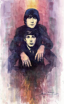 The Beatles John Lennon and Paul McCartney by Yuriy  Shevchuk