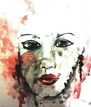 The beautiful face by Farfallina Art -Gabriela Dinca-