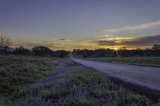 The Beautiful Road at Sunrise by Jeffrey W Spencer