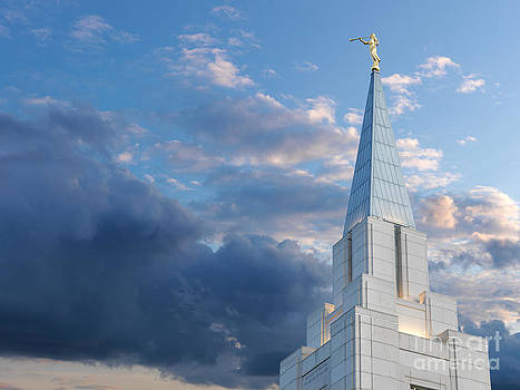 The Beautiful Vancouver LDS Temple. by Laurent Lucuix