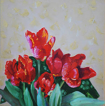 The Beauty of Tulips by Marcy Silverstein