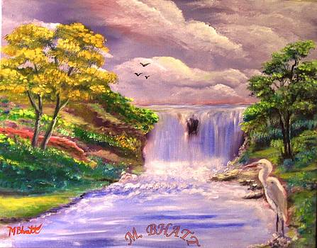 The beauty of waterfall by M Bhatt