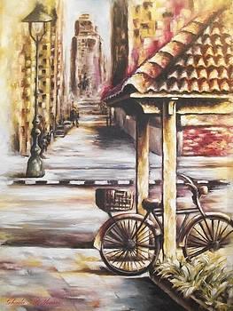 The bicycle in Alexandria by Ghada Ali yousri