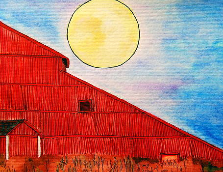 The Big Red Barn by Regina  Vasquez